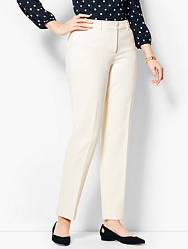 Talbots Hampshire Ankle Pant - Curvy Fit/Lined Ivory