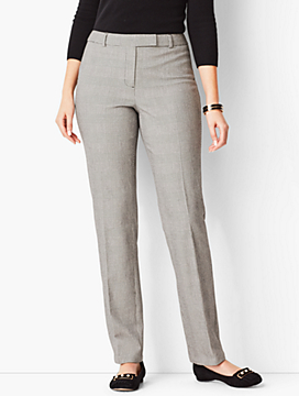 Bi-Stretch High-Waist Straight-Leg Pant - Curvy Fit/Plaid