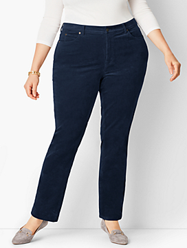 High-Rise Straight-Leg Pant - Curvy Fit/Cord