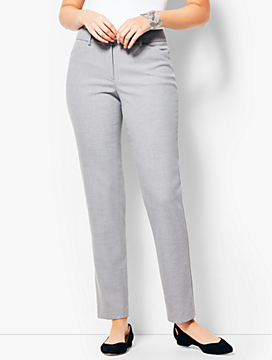 Talbots Hampshire Ankle Pant - Curvy Fit/Dark Mist Heather