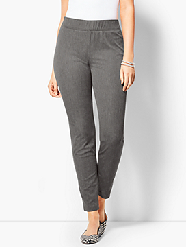 Bi-Stretch Pull-On Skinny Ankle Pant - Curvy Fit/Charcoal