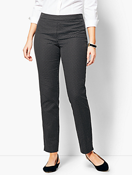 Talbots Chatham Ankle Pant - Curvy Fit/Dot