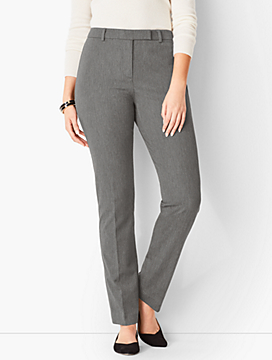 Bi-Stretch High-Waist Straight-Leg Pant - Curvy Fit/Charcoal