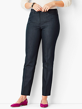Talbots Hampshire Ankle Pant - Curvy Fit/Polished Denim