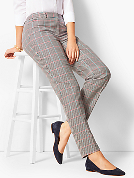 Talbots Hampshire Ankle Pants - Curvy Fit/Cottage Plaid