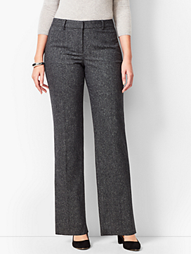 Wide-Leg Windsor Donegal Pants  - Curvy Fit