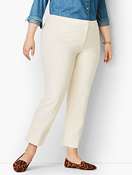Plus Size Talbots Hampshire Ankle Pants - Button-Hem