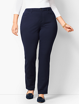 Plus Size High-Rise Straight-Leg Pant - Ponte