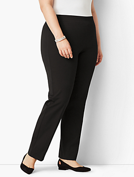 Plus Size Refined Bi-Stretch Pull-On Straight Leg Pant
