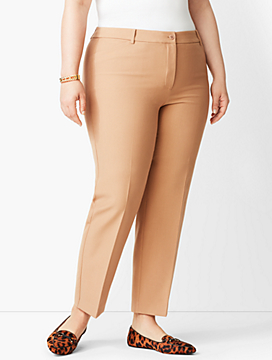Plus Size Talbots Hampshire Ankle Pant - Solid