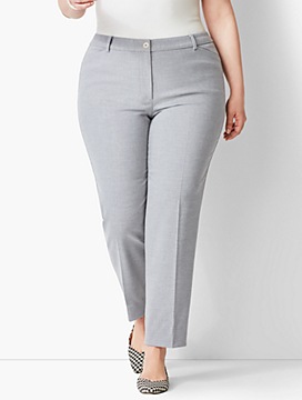 Plus Size High-Waist Tailored Ankle Pant - Heather