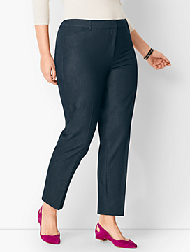 Plus Size High-Waist Tailored Ankle Pant - Polished Denim