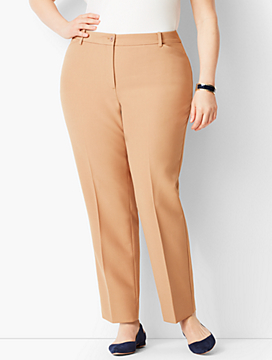 Plus Size High-Waist Tailored Ankle Pant - Curvy Fit/Solid