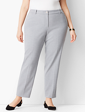 Plus Size High-Waist Tailored Ankle Pant - Curvy Fit/Heathered
