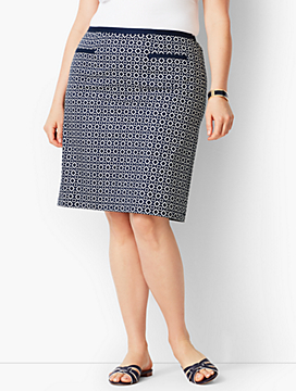 Batik Diamond A-Line Skirt