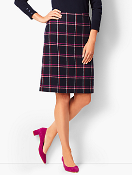 Herringbone A-Line Skirt