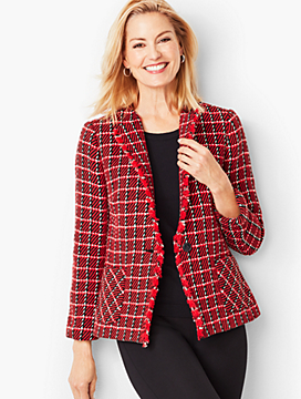 Twill Weave Check Jacket