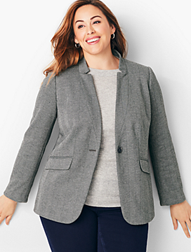 Perfect Ponte Blazer - Herringbone