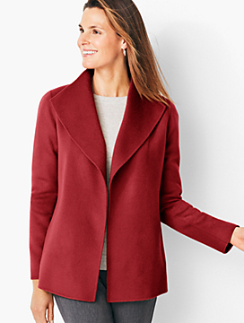 Double-Face Wing Collar Jacket - Solid