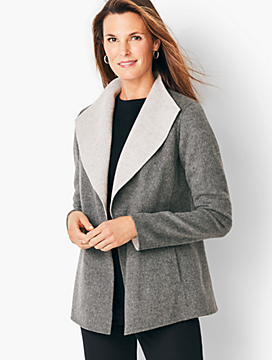 Double-Face Wing Collar Jacket - Two-Tone