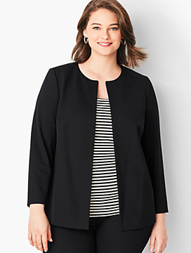 Plus Size Ponte Peplum Jacket
