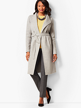 Double-Face Wool Belted Coat