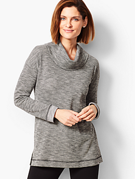 Chevron Cowlneck Top