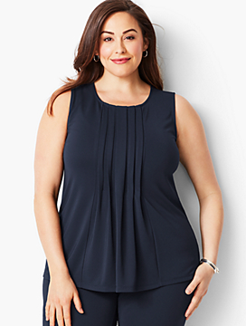 Plus Size Multi-Pleat Shell
