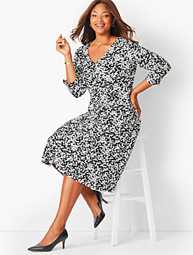 Plus Size Petal Fit & Flare Dress