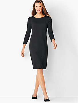 Knit Jersey Shift Dress - Solid