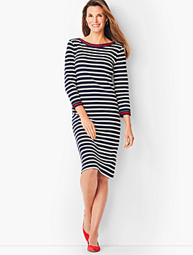 Stripe Cotton Shift Dress
