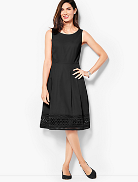 Sateen Fit & Flare Dress