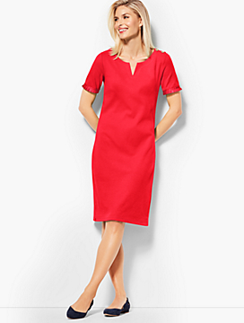 Grosgrain-Trim Dress