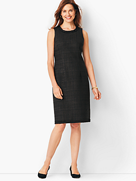Textured Tweed Sheath Dress