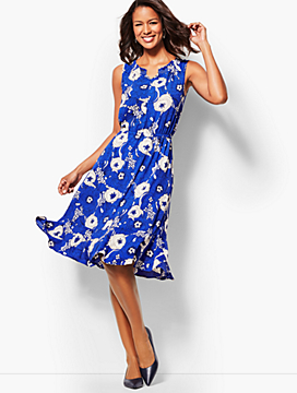 Floral Breeze Fit & Flare Dress
