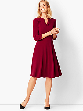 Knit Fit & Flare Dress - Solid