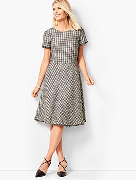Tweed Fit Flare Dress