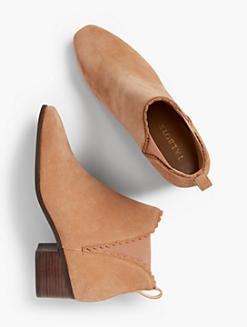 Dakota Scallop-Edge Ankle Boot