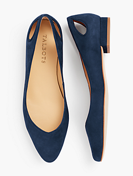 Edison Leather Flats - Kid Suede