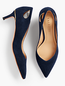 Erica Cut-Out Pumps - Kid Suede