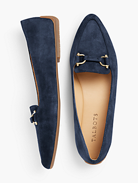 Francesca Driving Flats - Kid Suede