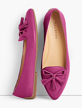 Francesca Tasseled Driving Flats - Napa Leather