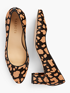 Kelsey Block-Heel Pumps - Haircalf