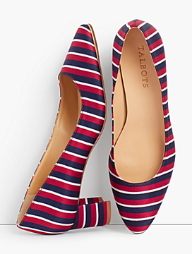 Kelsey Block-Heel Pumps - Stripe