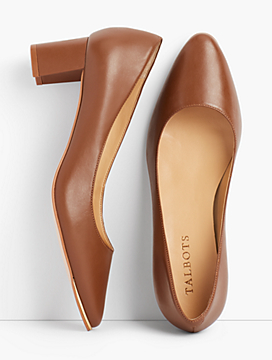 Kelsey Block-Heel Pumps - Soft Nappa