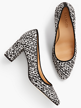 Kelsey Block-Heel Pumps-Tweed