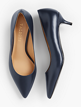 Sylvie Kitten-Heel Pumps - Leather