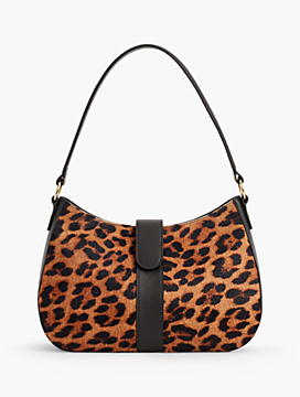 Leather Haircalf Hobo Bag