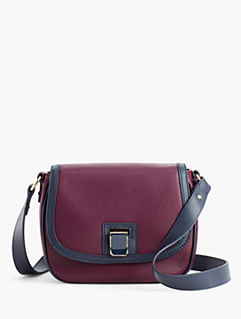 Pebbled-Leather Crossbody Bag