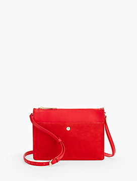 Small Crossbody Bag - Suede and Leather